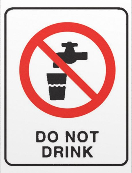 Do Not Drink - Self Adhesive